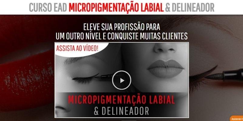 Foco em micropigmentação labial e delineador